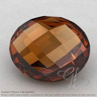 Cognac Quartz Oval Shape Calibrated Briolettes