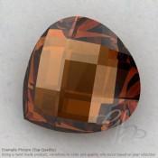 Cognac Quartz Heart Shape Calibrated Briolettes