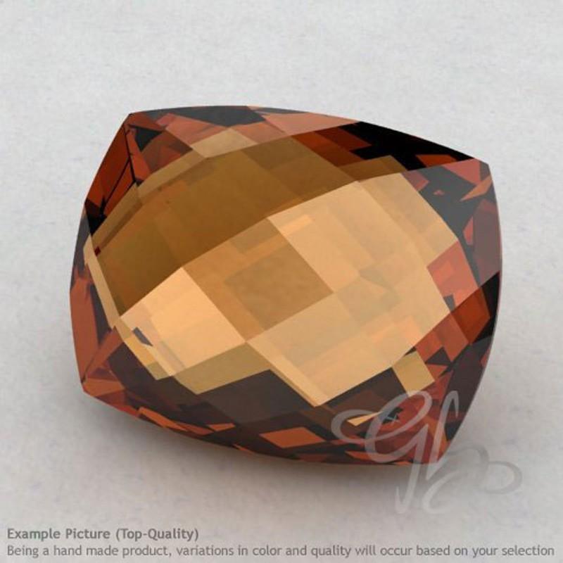Cognac Quartz Cushion Shape Calibrated Briolettes