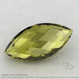 Olive Quartz Marquise Shape Calibrated Briolettes