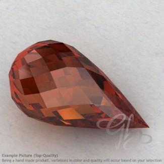 Garnet Drops Shape Calibrated Briolettes