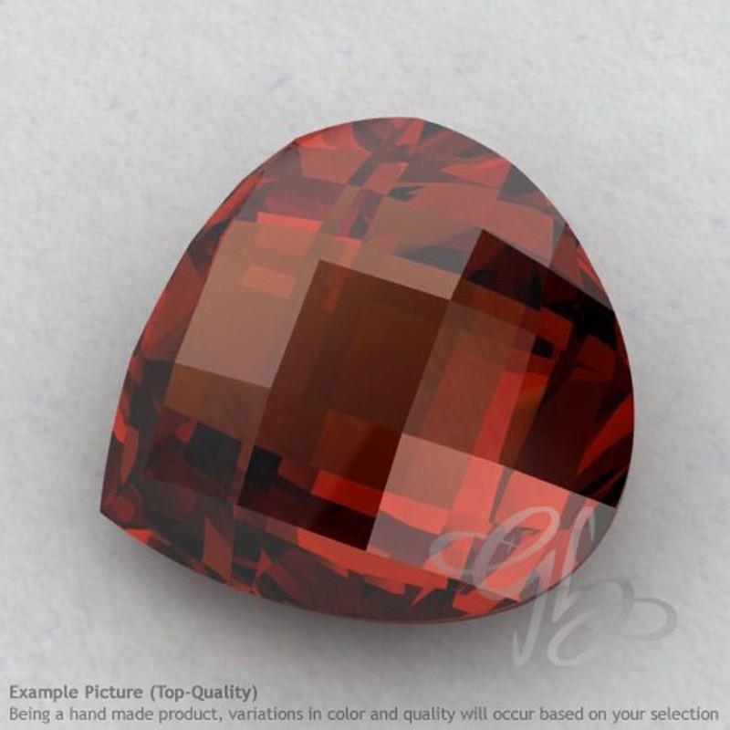 Garnet Heart Shape Calibrated Briolettes