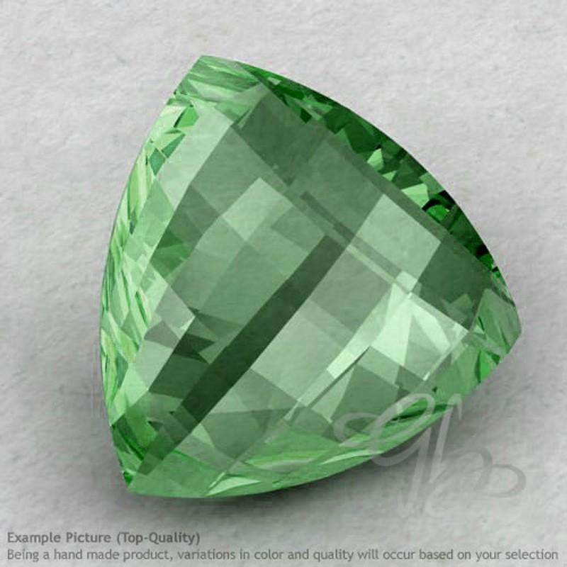 Green Amethyst Trillion Shape Calibrated Briolettes