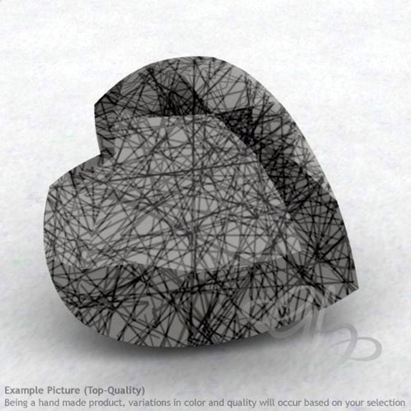 Black Rutile Heart Shape Calibrated Gemstones