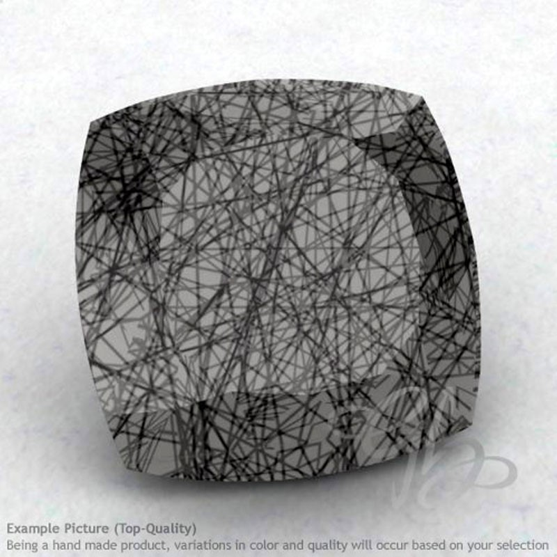 Black Rutile Square Cushion Shape Calibrated Gemstones