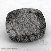 Black Rutile Cushion Shape Calibrated Gemstones