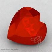 Carnelian Heart Shape Calibrated Gemstones
