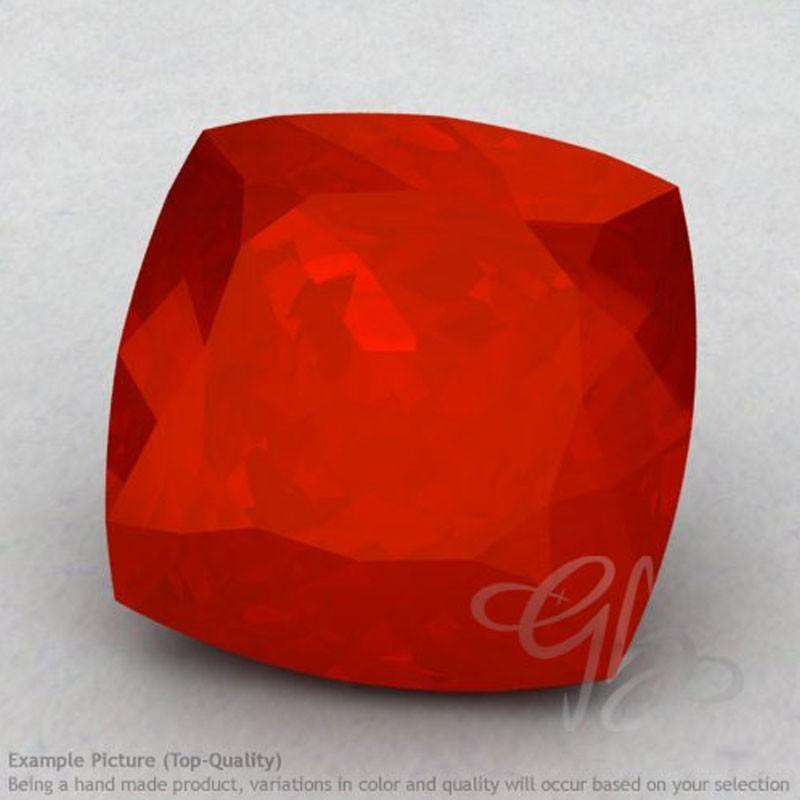 Carnelian Square Cushion Shape Calibrated Gemstones