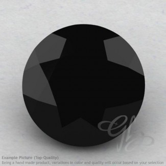 Black Spinel Round Shape Calibrated Gemstones