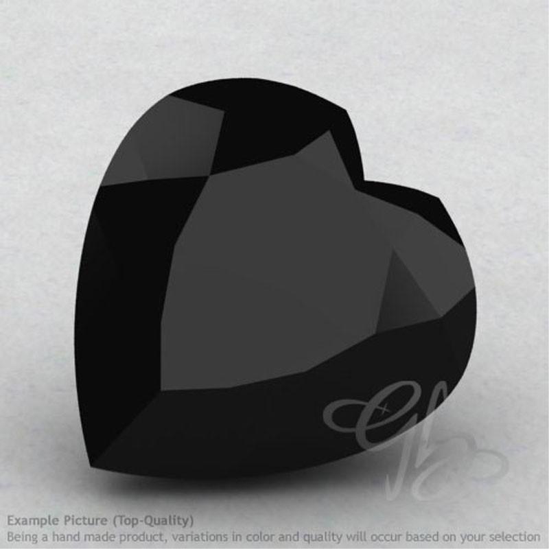 Black Spinel Heart Shape Calibrated Gemstones