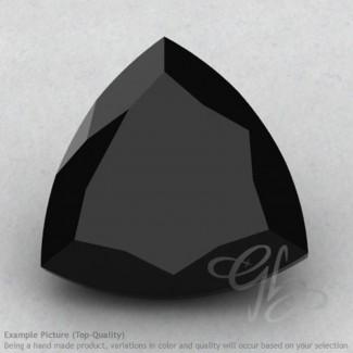 Black Spinel Trillion Shape Calibrated Gemstones