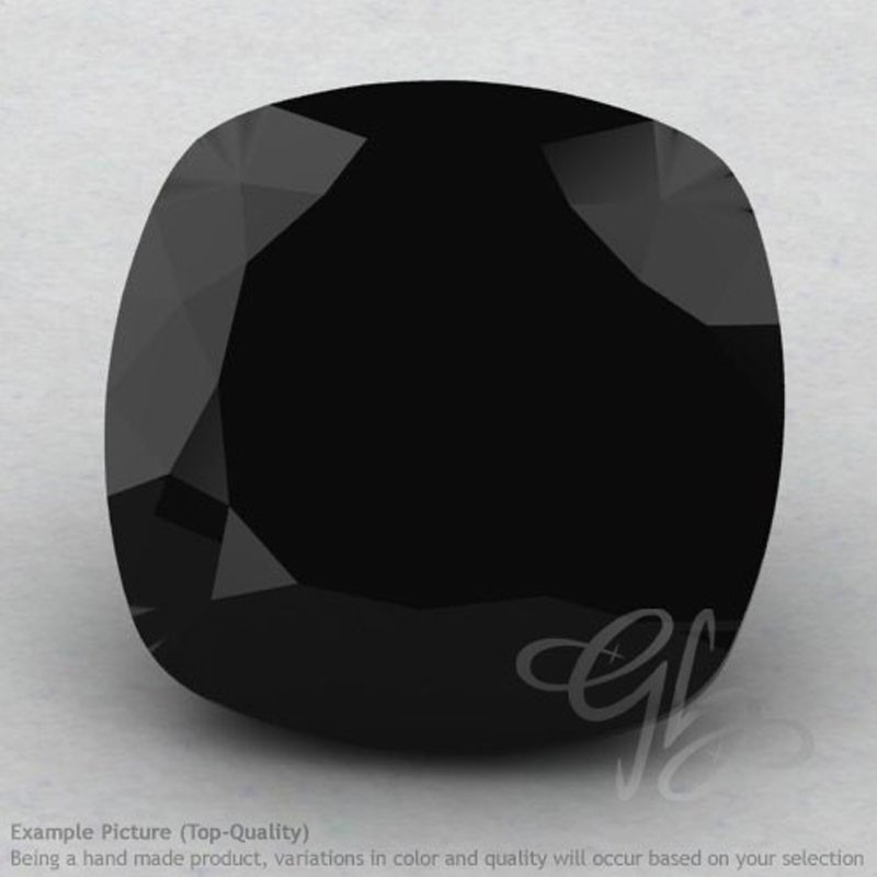 Black Spinel Square Cushion Shape Calibrated Gemstones