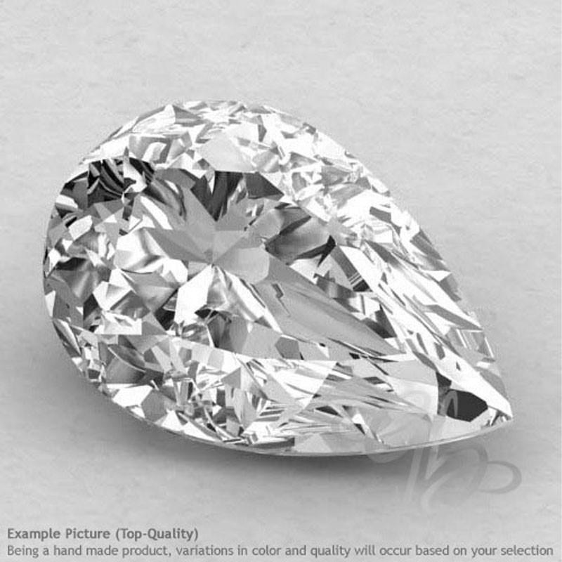 Crystal Quartz Pear Shape Calibrated Gemstones