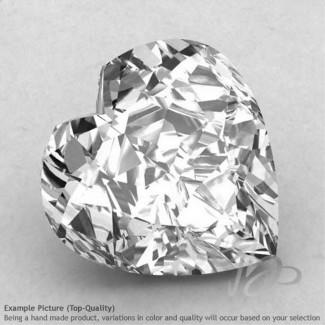 Crystal Quartz Heart Shape Calibrated Gemstones