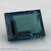 London Blue Topaz Baguette Shape Calibrated Gemstones