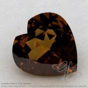 Cognac Quartz Heart Shape Calibrated Gemstones