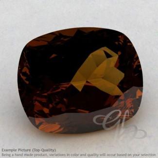 Cognac Quartz Cushion Shape Calibrated Gemstones