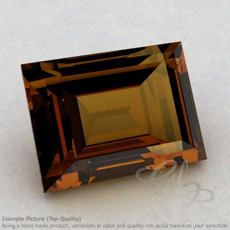 Cognac Quartz Baguette Shape Calibrated Gemstones