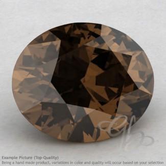 Smoky Quartz Oval Shape Calibrated Gemstones