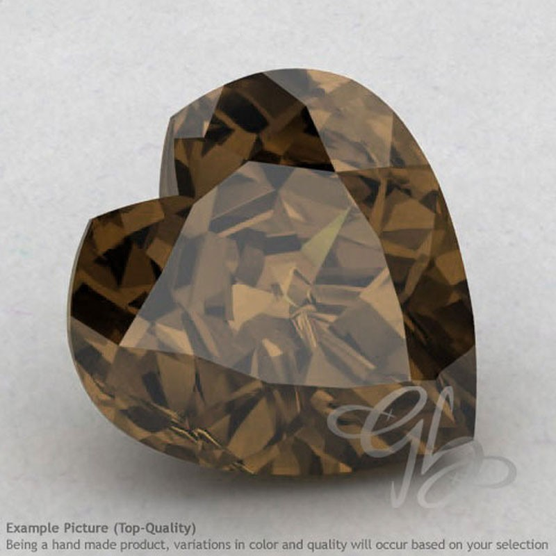 Smoky Quartz Heart Shape Calibrated Gemstones