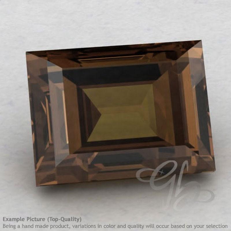 Smoky Quartz Baguette Shape Calibrated Gemstones