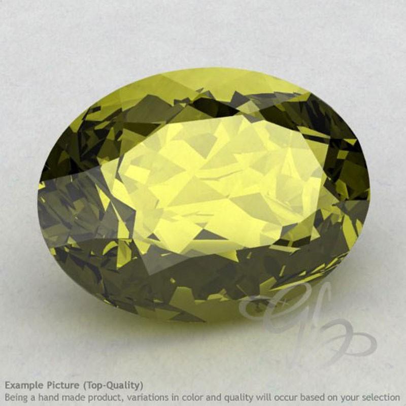 Olive Quartz Oval Shape Calibrated Gemstones