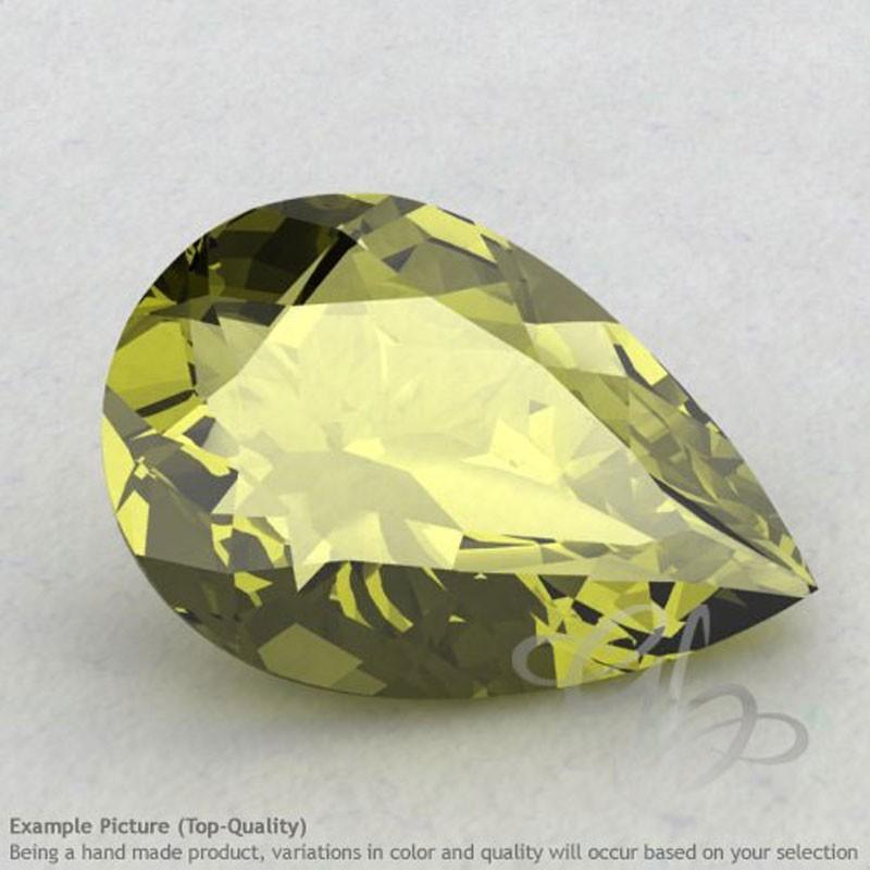 Olive Quartz Pear Shape Calibrated Gemstones