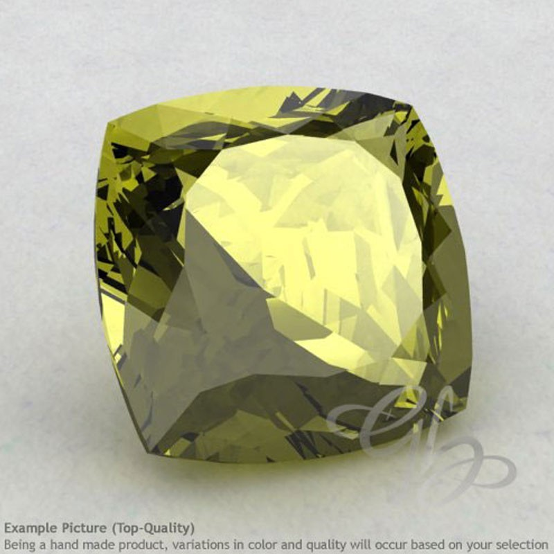 Olive Quartz Square Cushion Shape Calibrated Gemstones
