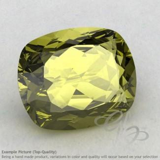 Olive Quartz Cushion Shape Calibrated Gemstones