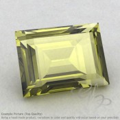 Olive Quartz Baguette Shape Calibrated Gemstones