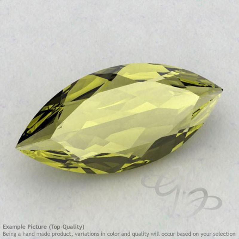 Olive Quartz Marquise Shape Calibrated Gemstones