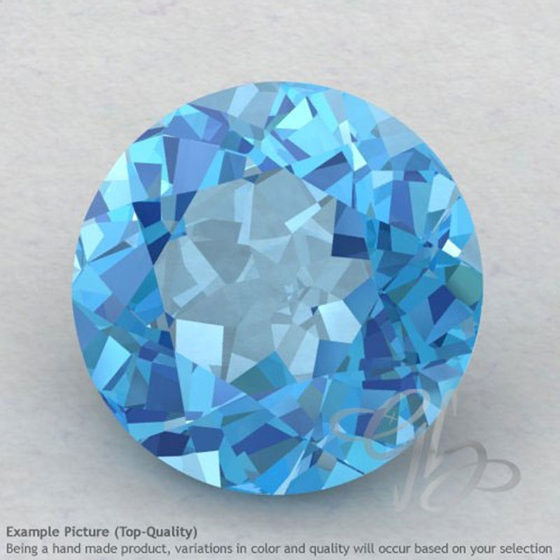 Swiss Blue Topaz Round Shape Calibrated Gemstones