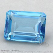 Swiss Blue Topaz Octagon Shape Calibrated Gemstones