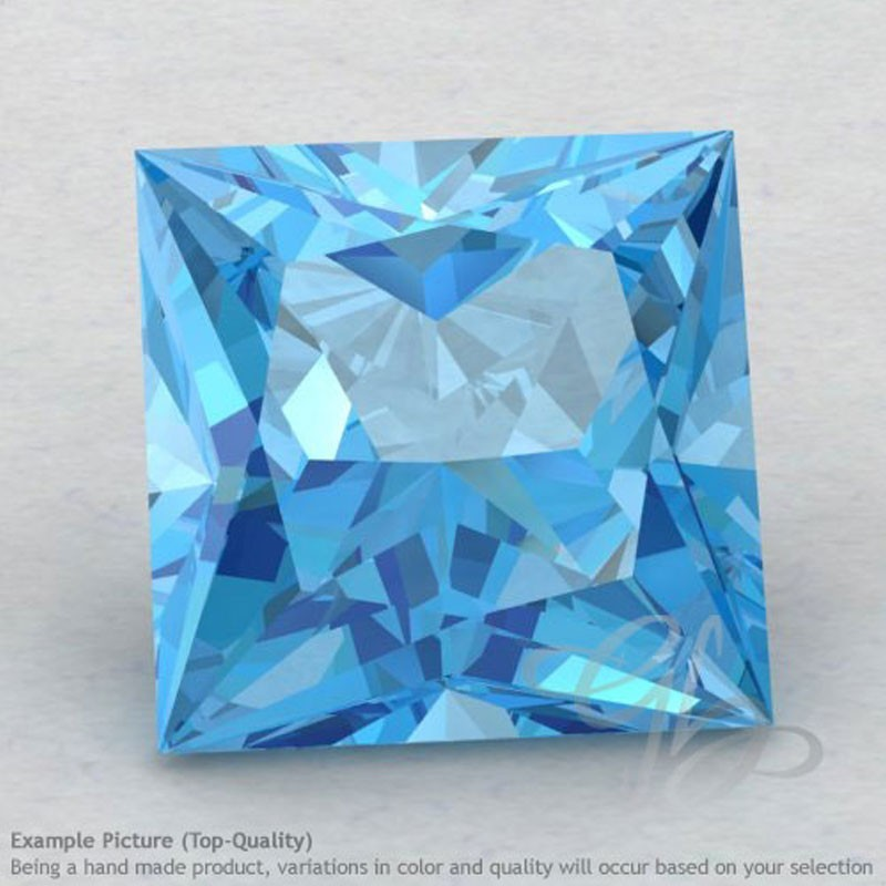 Swiss Blue Topaz Square Shape Calibrated Gemstones