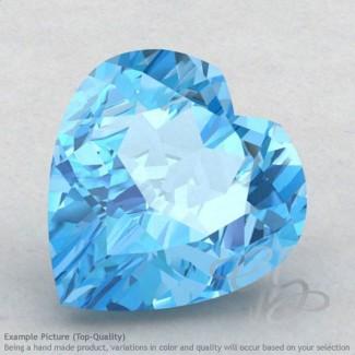 Swiss Blue Topaz Heart Shape Calibrated Gemstones