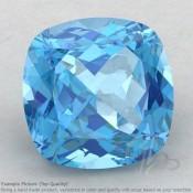 Swiss Blue Topaz Square Cushion Shape Calibrated Gemstones