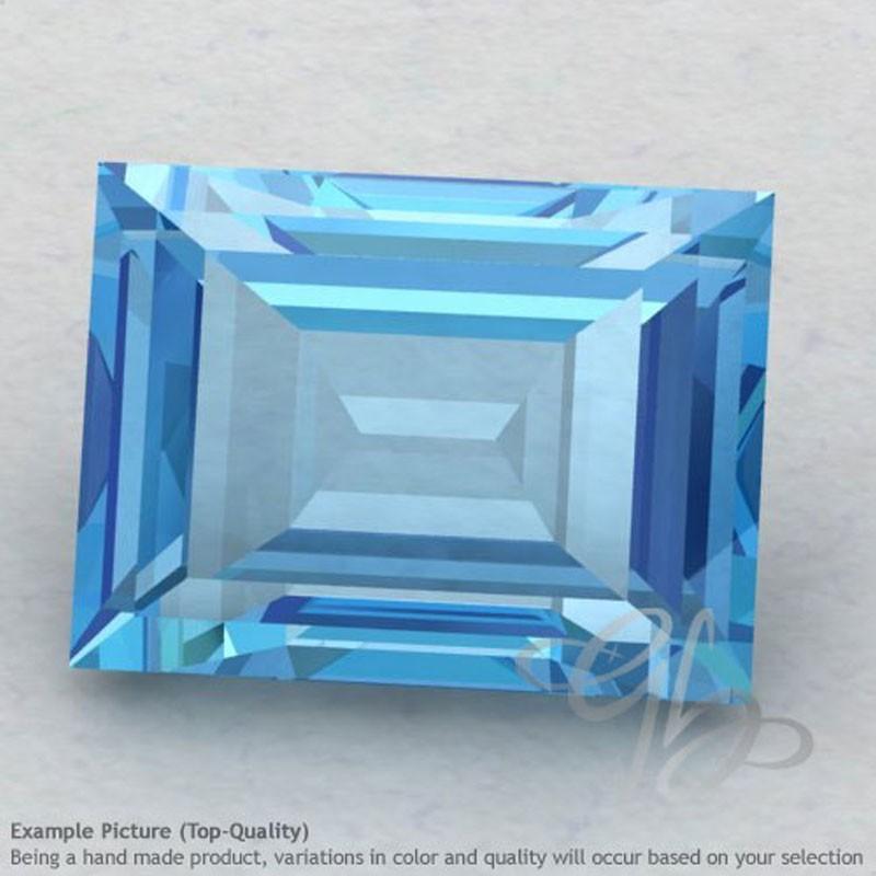 Swiss Blue Topaz Baguette Shape Calibrated Gemstones