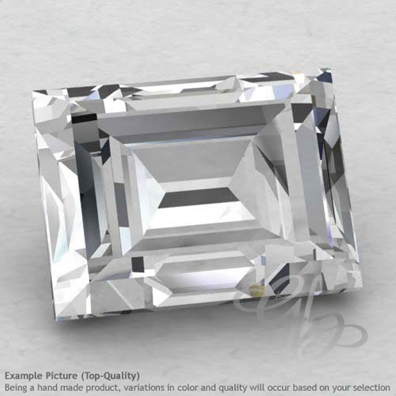 White Topaz Baguette Shape Calibrated Gemstones