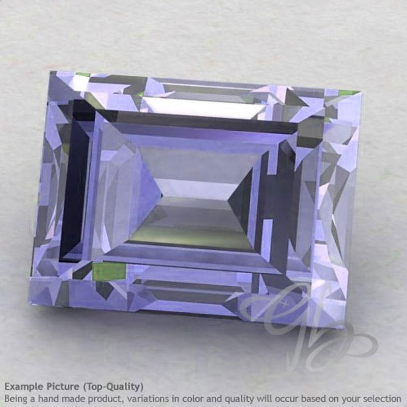 Iolite Baguette Shape Calibrated Gemstones