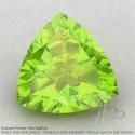 Peridot Trillion Shape Calibrated Gemstones