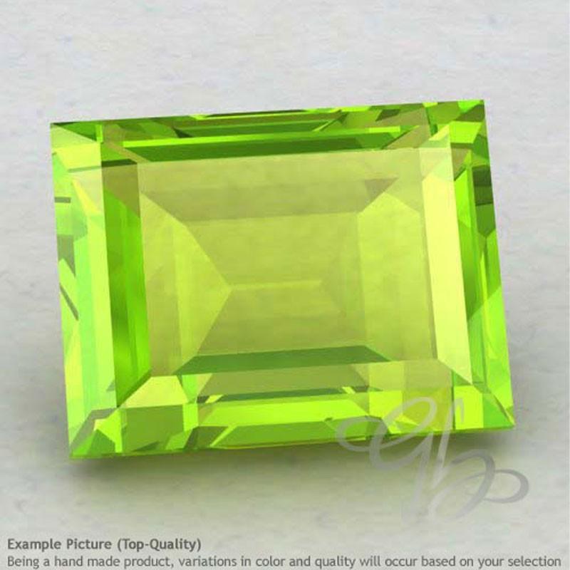 Peridot Baguette Shape Calibrated Gemstones
