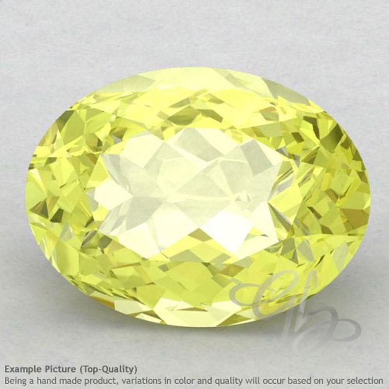 Lemon Quartz Oval Shape Calibrated Gemstones