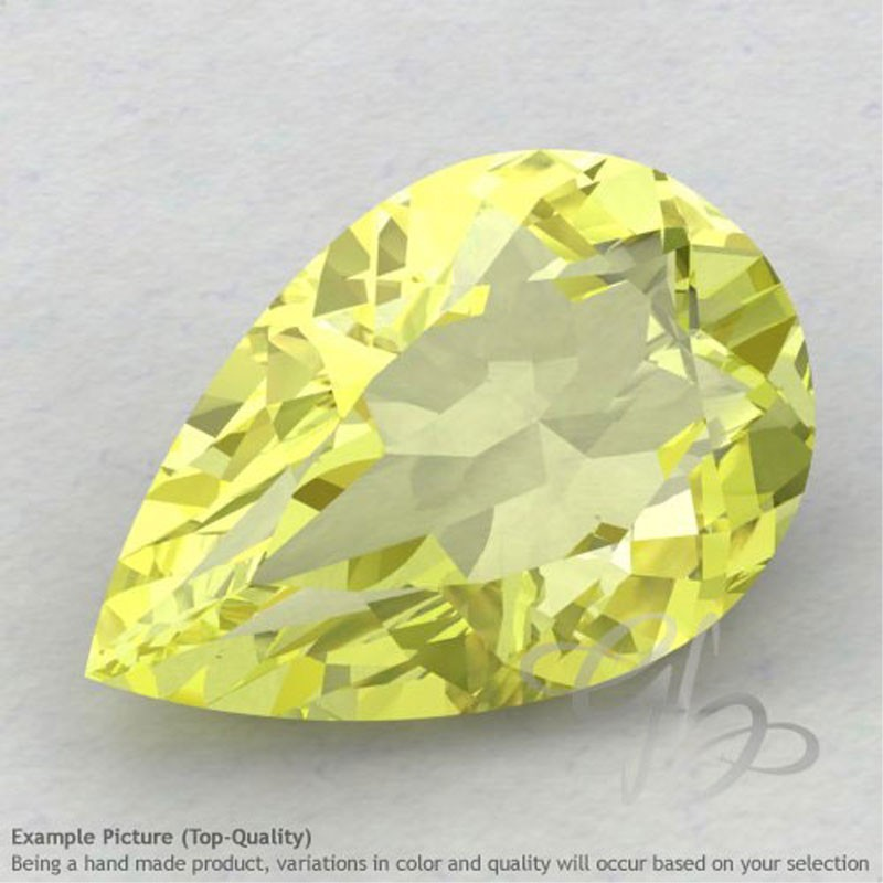Lemon Quartz Pear Shape Calibrated Gemstones