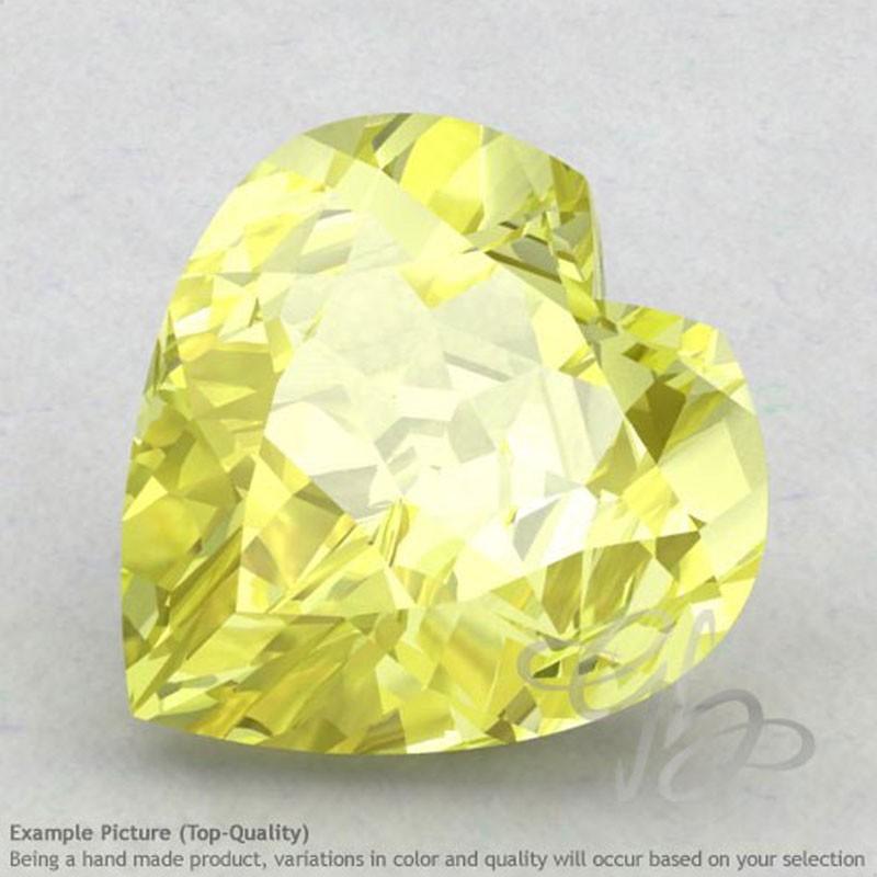 Lemon Quartz Heart Shape Calibrated Gemstones
