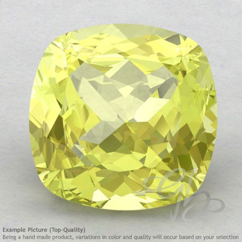 Lemon Quartz Square Cushion Shape Calibrated Gemstones