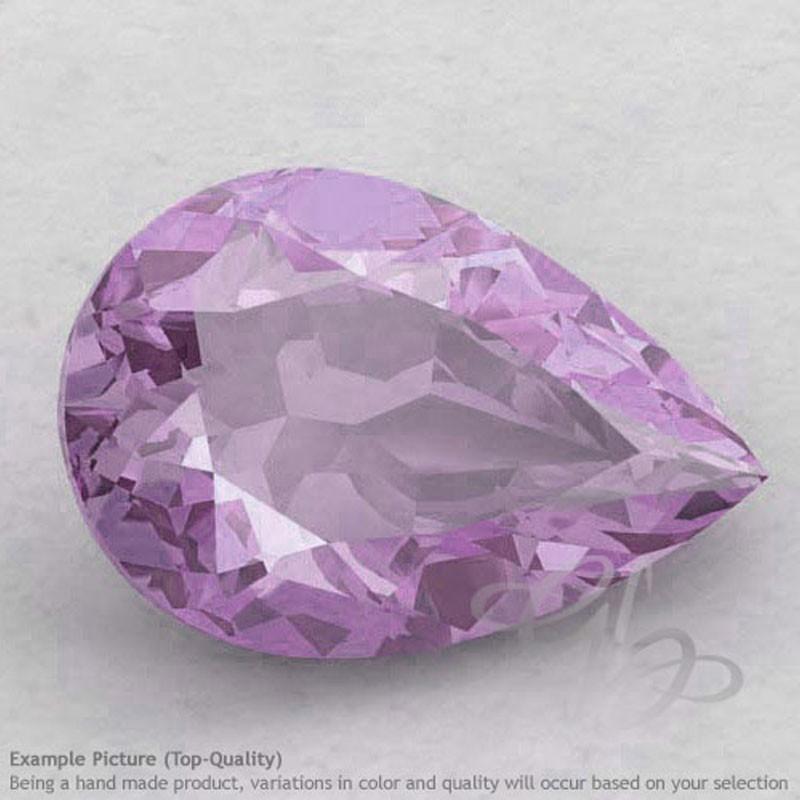 Pink Amethyst Pear Shape Calibrated Gemstones