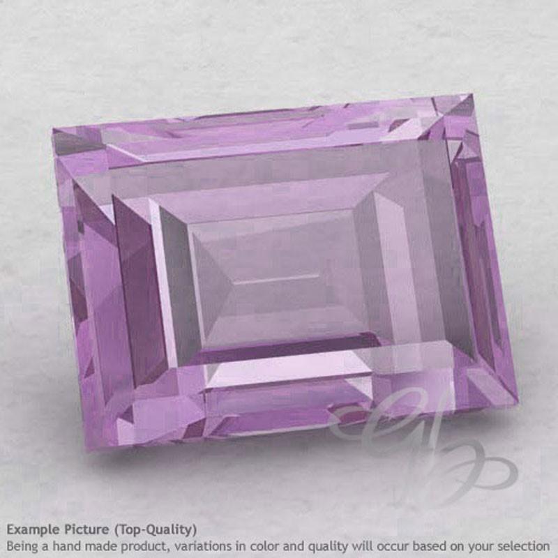 Pink Amethyst Baguette Shape Calibrated Gemstones