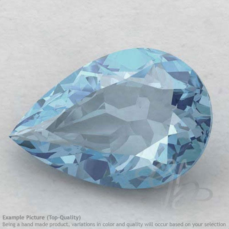 Aquamarine Pear Shape Calibrated Gemstones