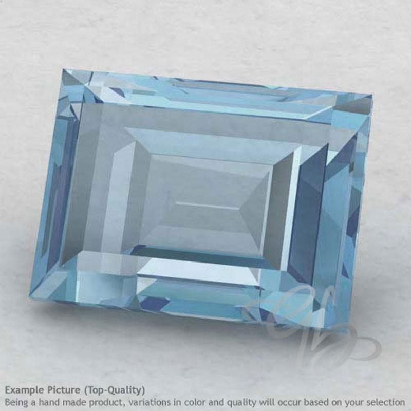 Aquamarine Baguette Shape Calibrated Gemstones