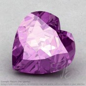 Brazilian Amethyst Heart Shape Calibrated Gemstones